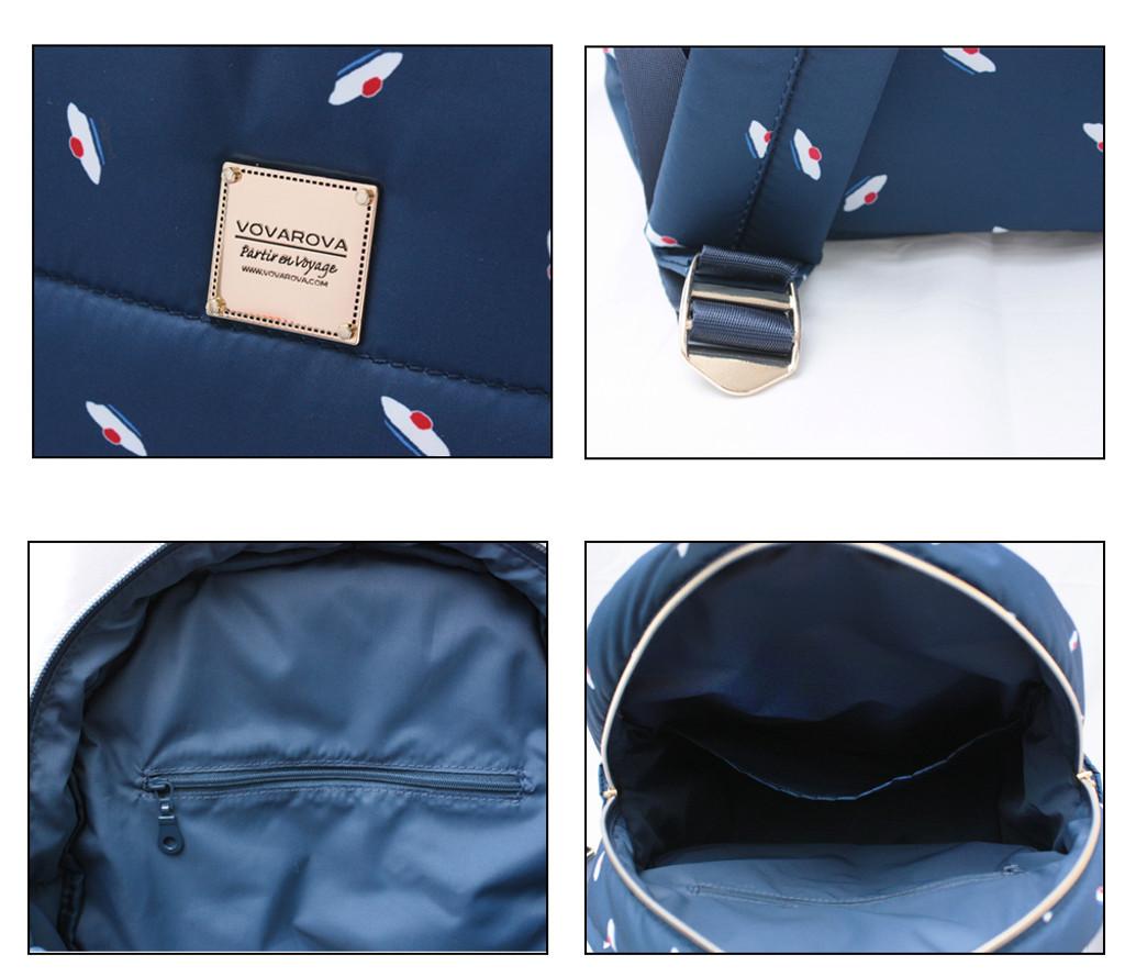 Backpack medium - French Pom Pom - Navy
