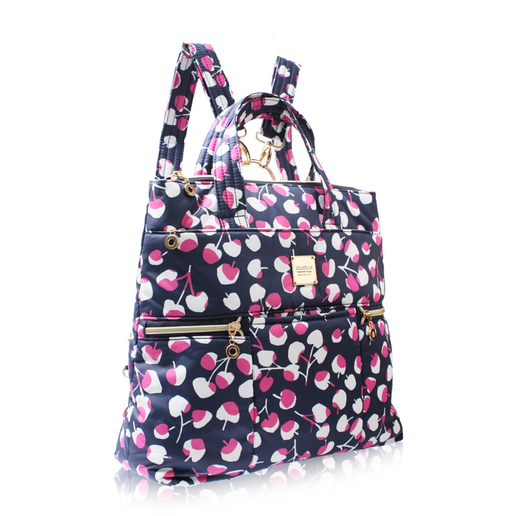 Convertible Satchel / Backpack - Cherrypicks - Pink