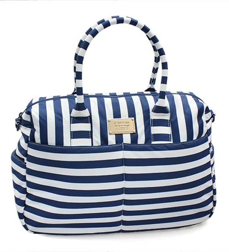 Boston Bag - Stripe Navy White