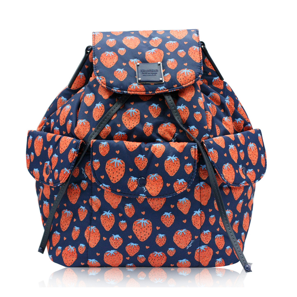 2 WAY DRAWSTRING HOBO BAG - Strawberry