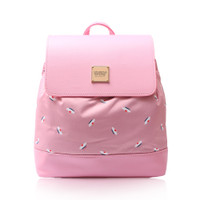 Flipped Backpack - French Pom Pom - ApplePink