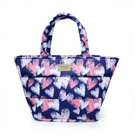 Padded Tote - Dancing Hearts - Blue