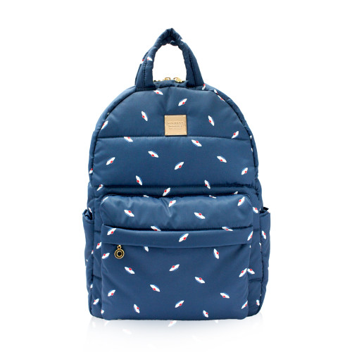 Backpack medium - French Pom Pom - Navy