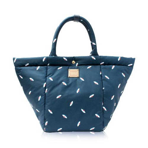 2-Way Tote Bag - French Pom Pom - Blue