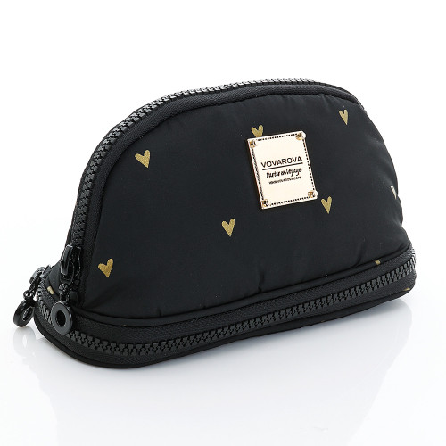 Makeup Pouch - Mini Heart -Black