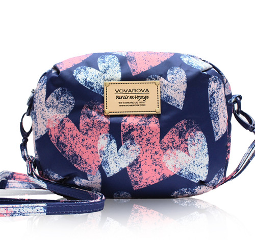 Mini Sling Bag - Dancing Heart -Blue