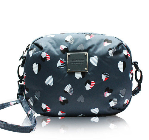 Mini Sling Bag -  Puzzled Hearts