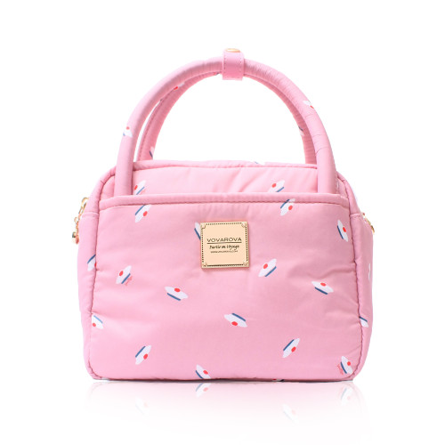 Cubic cute 2 way Bag - French Pom Pom - ApplePink