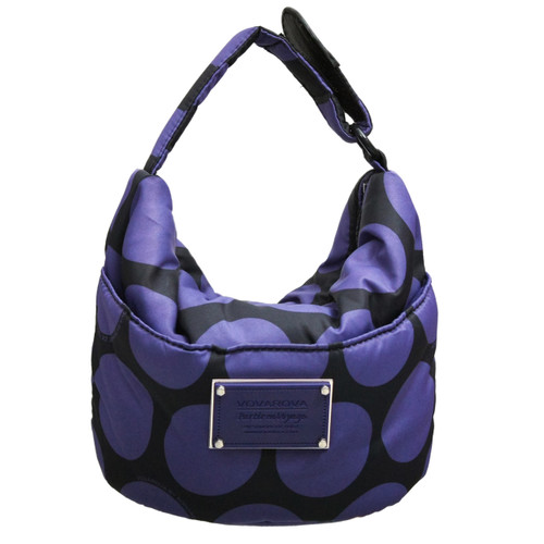 Cutie Lunch Out Sac - Polka Dot - Black/Violet