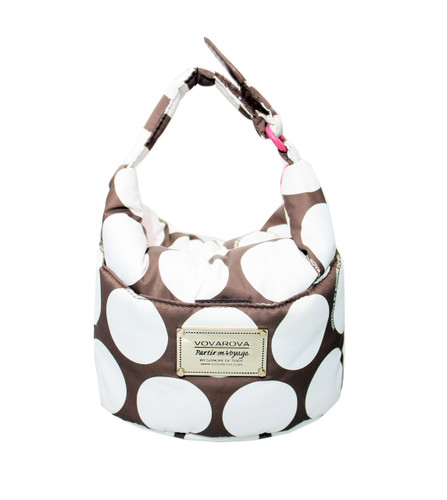 Cutie Lunch Out Sac -  Polka Dot - Brown/White