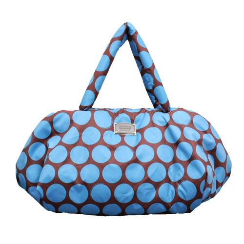 Travel Bag -  Polka Dot - Chocolate/Blue