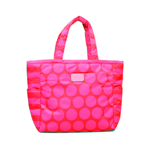 Reversible Tote - Polka Dot - Pink/Red