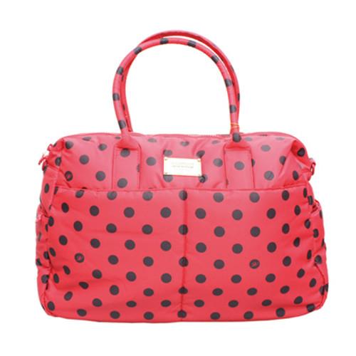 Boston Bag - Dotty - Red/Black