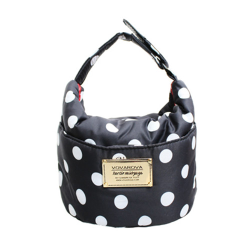 Cutie Lunch Out Sac - Dotty - Black/White