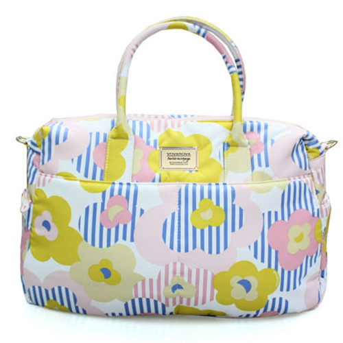 Boston Bag - Stripped Floral