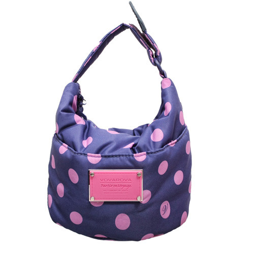 Cutie Lunch Out Sac -  Midlight-Blue Pink Small Dots