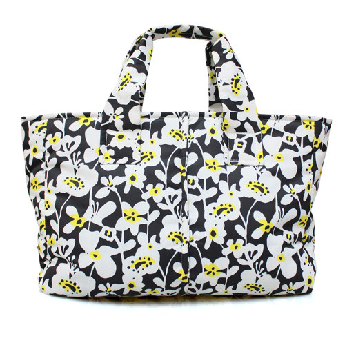 Document Sac - LIANA FLORAL - BLACK