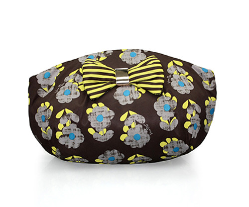 Bow Ribbon Pouch - Little Secret Garden Brown