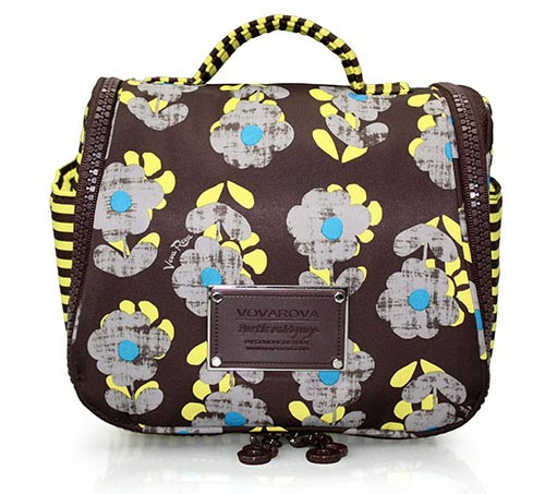 Toiletry Pouch - Little Secret Garden Brown