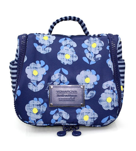 Toiletry Pouch - Little Secret Garden Blue