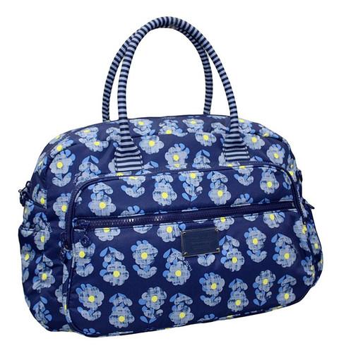 Travel Boston Bag - Little Secret Garden Blue