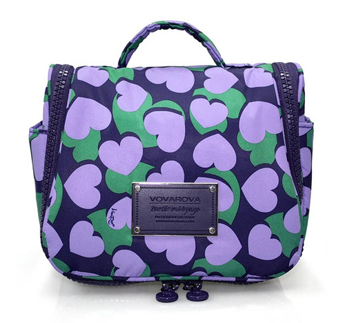 Toiletry Pouch - Lavender Hearts