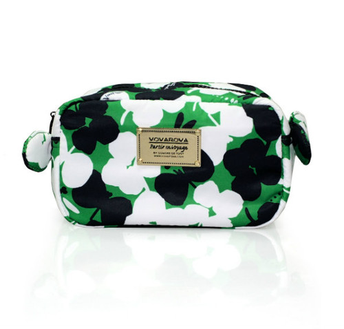 Travel Cosmetics Pouch With Ribbon - Clover Love