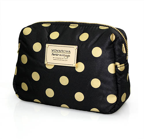 Daily Makeup Pouch - Golden Dotty