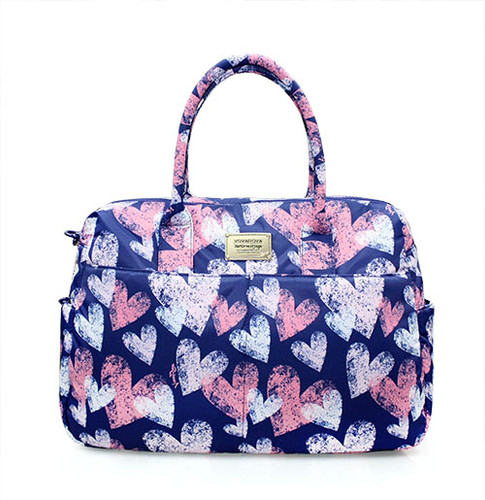 Boston Bag - Dancing Hearts - Blue