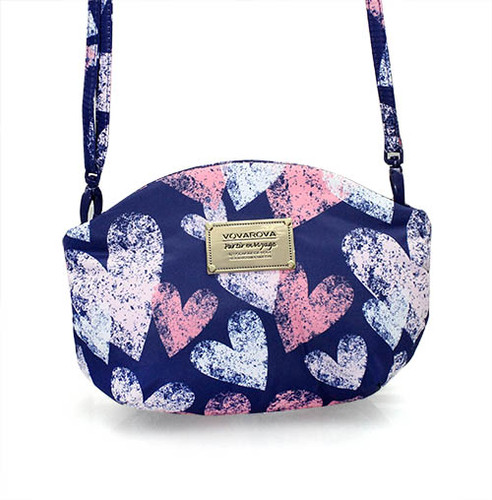 Sling Bag - Dancing Hearts - Blue