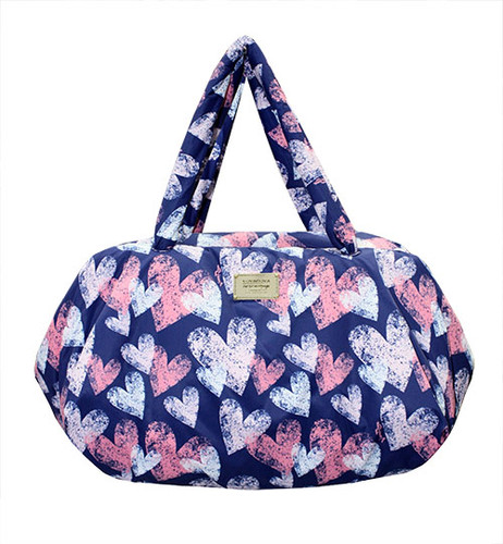 Travel Bag - Dancing Hearts - Blue