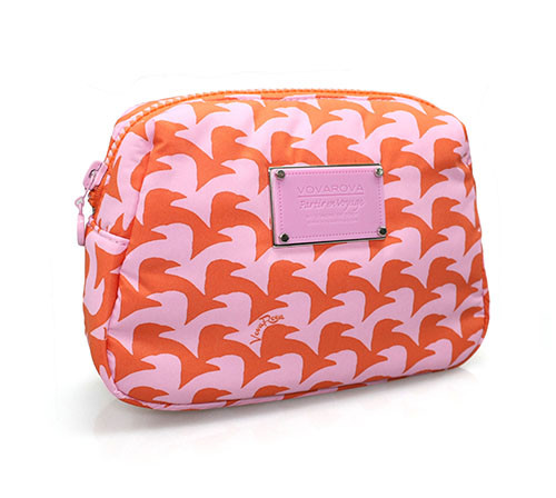 Daily Makeup Pouch - Checker in Vogue - Pink