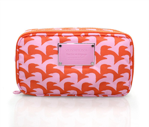 Compact Brush Case - Checker in Vogue - Pink