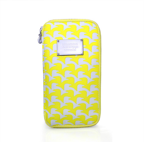 Travel Wallet - Checker in Vogue - Yellow