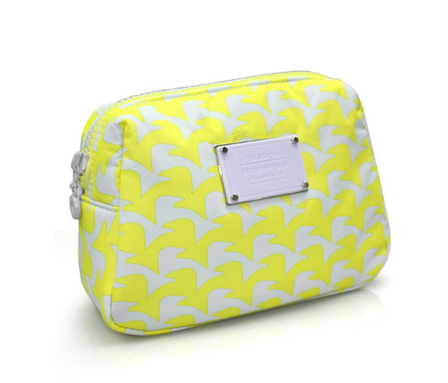 Daily Makeup Pouch - Checker in Vogue - Yellow