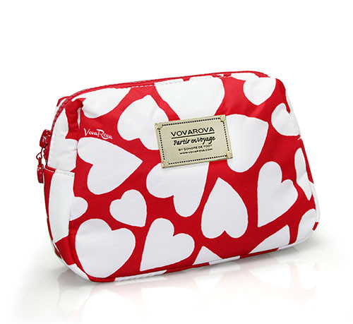 Daily Makeup Pouch - Endless Love - Red
