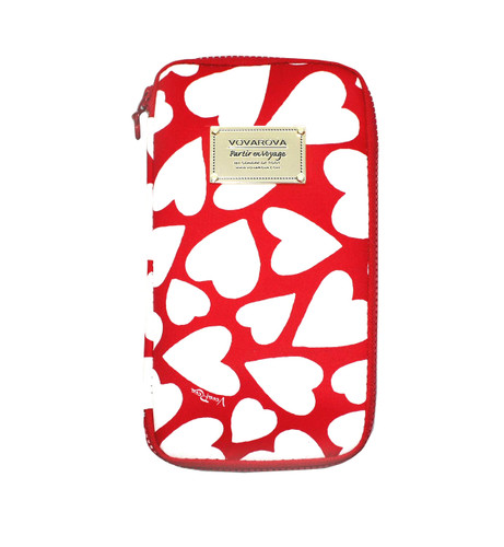 Travel Wallet - Endless Love - Red