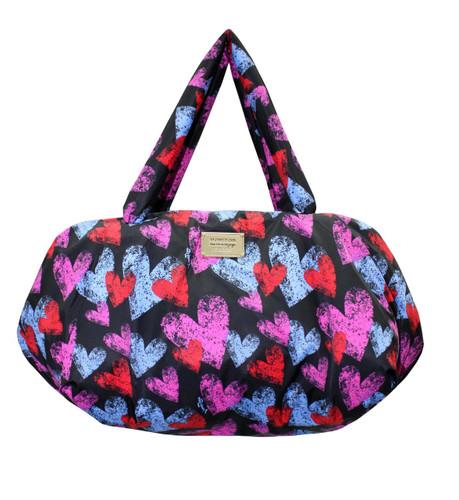 Travel Bag - Dancing Hearts - Black