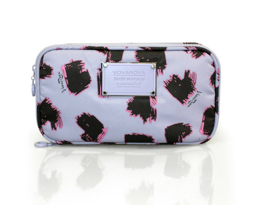 Compact Brush Case - SKETCHY LOVE - LAVENDER