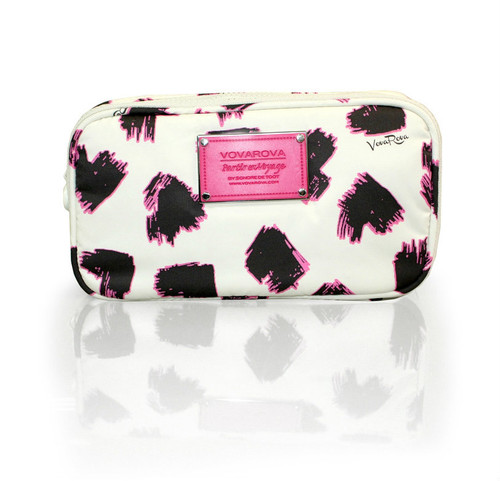 Compact Brush Case - SKETCHY LOVE - PEARL