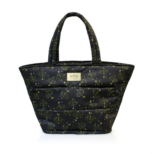 Padded Tote - Singing in the rain - Black