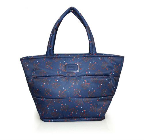 Padded Tote - Singing in the rain - Blue