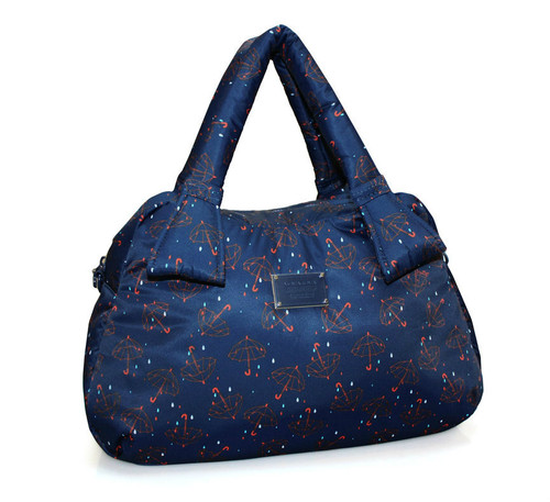 Ribbon Day Bag - Singing in the rain - Blue