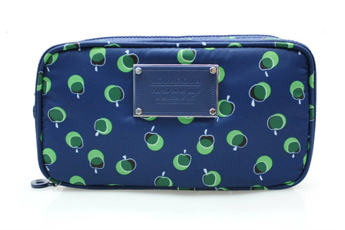 Compact Brush Case - Dotty Apple - Green