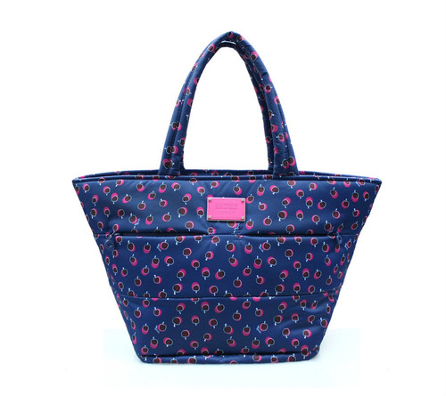 Padded Tote - Dotty Apple - Pink