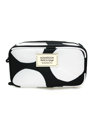 Compact Brush Case - Pop Dot - Black & White