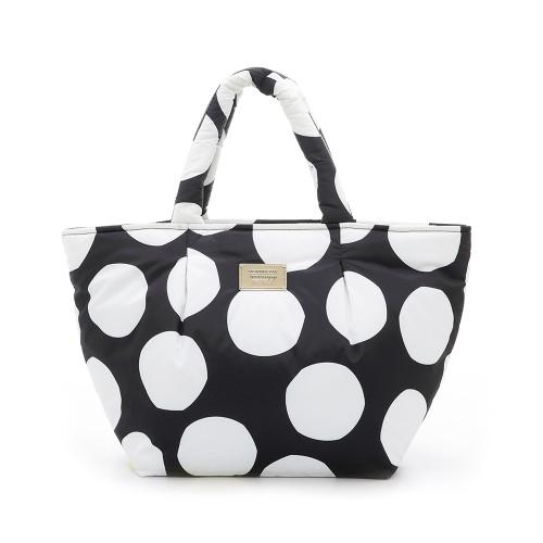 Pleat Tote - Pop Dot - Black & White