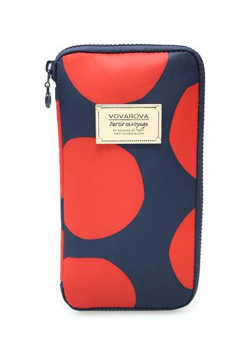 Travel Wallet - POP DOT Navy Red