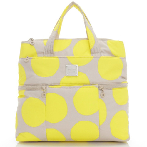 Convertible Satchel / Backpack - Pop Dot - Yellow Beige