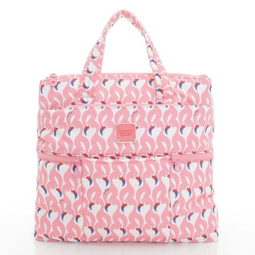 Convertible Satchel / Backpack - Flamingo